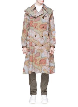 首图 - 点击放大 - KOLOR - 迷彩印花羊毛边饰大衣