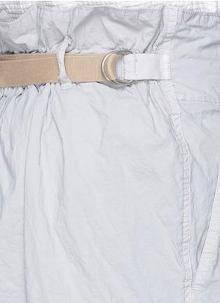 细节 - 点击放大 - KOLOR - 褶裥设计皱面尼龙短裤
