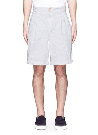 首图 - 点击放大 - KOLOR - 褶裥设计皱面尼龙短裤