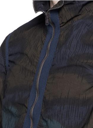 细节 - 点击放大 - kolor - 迷彩印花条纹拼贴夹克