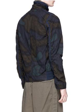 背面 - 点击放大 - kolor - 迷彩印花条纹拼贴夹克