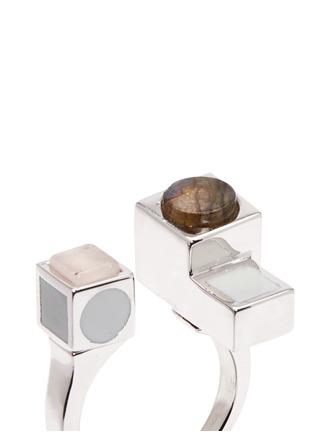 细节 - 点击放大 - Eddie Borgo - 晶石立方体组合戒指