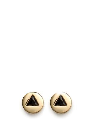 首图 - 点击放大 - EDDIE BORGO - 仿水晶点缀圆柱形耳钉