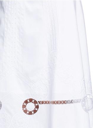细节 - 点击放大 - TEMPERLEY LONDON - BELLANCA刺绣镂空纯棉半身裙