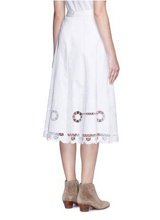 背面 - 点击放大 - TEMPERLEY LONDON - BELLANCA刺绣镂空纯棉半身裙
