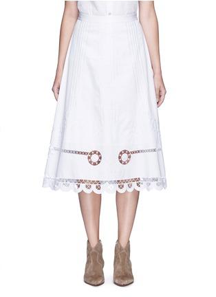 首图 - 点击放大 - TEMPERLEY LONDON - BELLANCA刺绣镂空纯棉半身裙