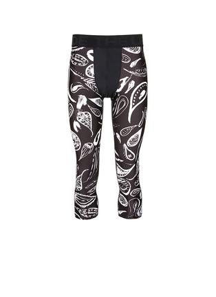 首图 - 点击放大 - THE UPSIDE - 佩斯利印花七分长运动裤