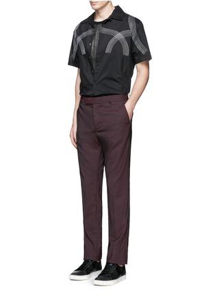 模特儿示范图 - 点击放大 - LANVIN - 车缝线缀饰纯棉衬衫