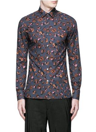 首图 - 点击放大 - LANVIN - 拼色豹纹纯棉衬衫