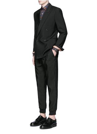 模特儿示范图 - 点击放大 - LANVIN - 拼色豹纹纯棉衬衫
