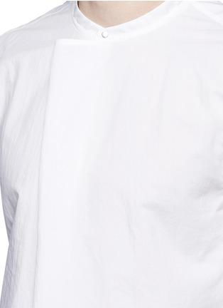 细节 - 点击放大 - ACNE STUDIOS - 中式衣领棉混丝衬衫