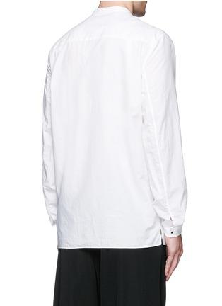 背面 - 点击放大 - ACNE STUDIOS - 中式衣领棉混丝衬衫