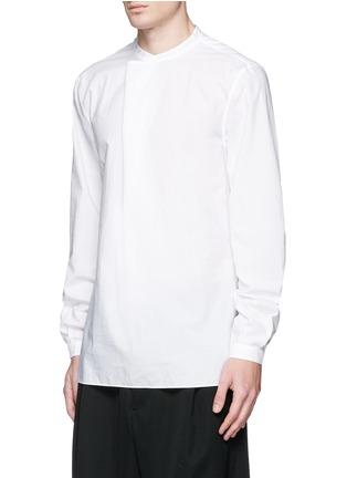 正面 -点击放大 - ACNE STUDIOS - 中式衣领棉混丝衬衫