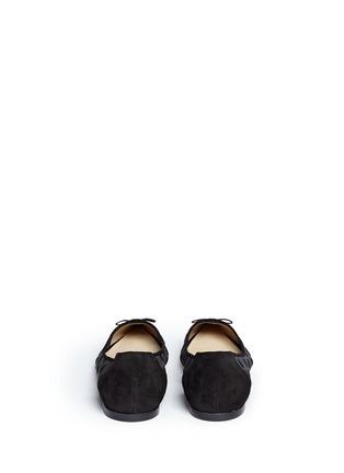 背面 - 点击放大 - JIMMY CHOO - DOROTHY植绒波点网状尖头平底鞋