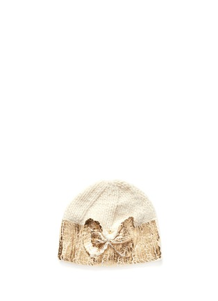 首图 - 点击放大 - THE BLUEBERRY HILL - 'Sabrina' metallic bow kids beanie