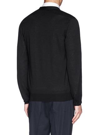 背面 - 点击放大 - Alexander McQueen - 花卉刺绣针织开衫