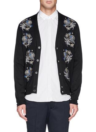 首图 - 点击放大 - Alexander McQueen - 花卉刺绣针织开衫