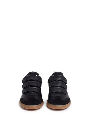 正面 -点击放大 - ISABEL MARANT ÉTOILE - BETH锯齿饰边真皮运动鞋