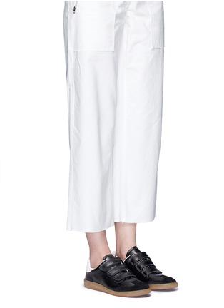 模特儿示范图 - 点击放大 - ISABEL MARANT ÉTOILE - BETH锯齿饰边真皮运动鞋