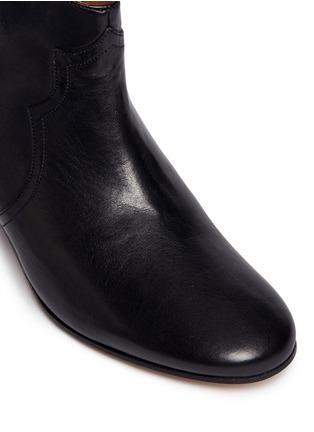 细节 - 点击放大 - ISABEL MARANT ÉTOILE - 真皮粗跟及踝靴