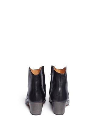 背面 - 点击放大 - ISABEL MARANT ÉTOILE - 真皮粗跟及踝靴