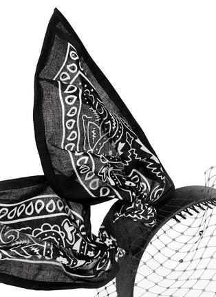 细节 - 点击放大 - PIERS ATKINSON - 印花手帕蝴蝶结网眼装饰发箍