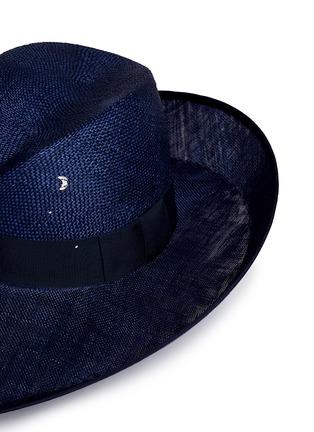 细节 - 点击放大 - PIERS ATKINSON - 仿水晶点缀倾斜翻折编织帽