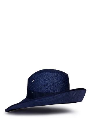 模特示范图 - 点击放大 - PIERS ATKINSON - 仿水晶点缀倾斜翻折编织帽