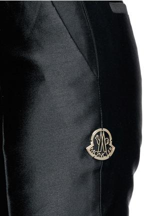 细节 - 点击放大 - MONCLER GAMME ROUGE - 混丝光泽直脚九分裤