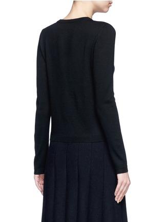 背面 - 点击放大 - alice + olivia - AVI波浪条纹亮片针织外套