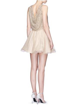 背面 - 点击放大 - alice + olivia - HILTA亮片喇叭连衣裙