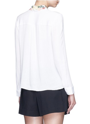 背面 - 点击放大 - ALICE + OLIVIA - 花卉刺绣衣领绉绸衬衫