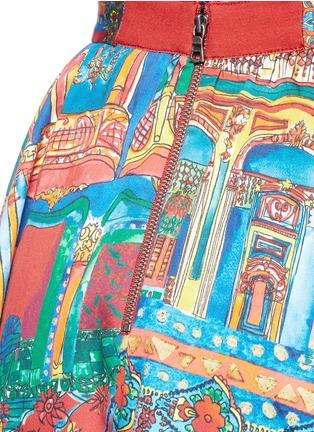 细节 - 点击放大 - ALICE + OLIVIA - EARLA风景印花褶裥半身裙