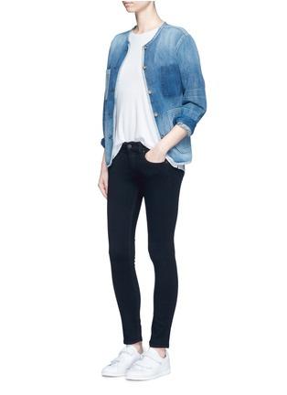 模特儿示范图 - 点击放大 - RAG & BONE/JEAN - capri单色中腰修身长裤