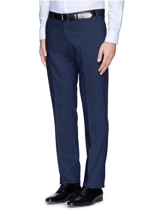 细节 - 点击放大 - ARMANI COLLEZIONI - 羊毛双排扣西服套装