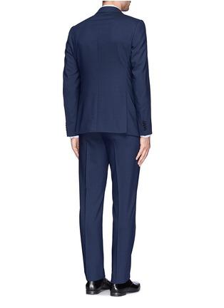 背面 - 点击放大 - ARMANI COLLEZIONI - 羊毛双排扣西服套装