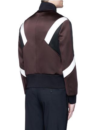 背面 - 点击放大 - NEIL BARRETT - 拼色几何图案缎面夹克