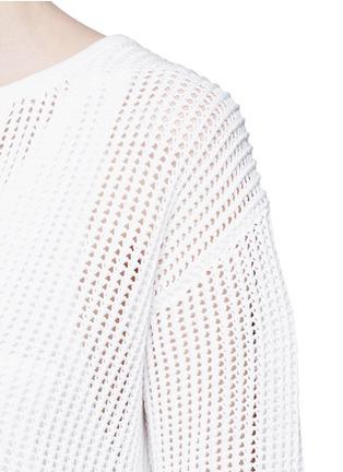细节 - 点击放大 - THEORY - LIMTALLY B抽绳领口圈状针织衫