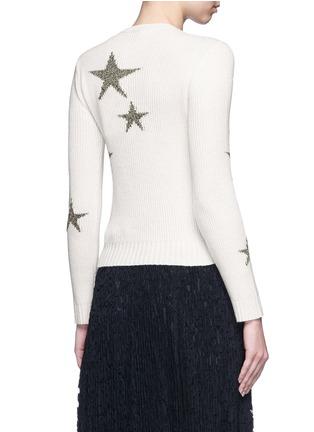 背面 - 点击放大 - Valentino - 五角星嵌花羊绒针织衫