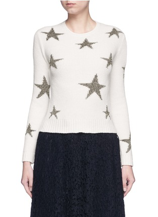 首图 - 点击放大 - VALENTINO - 五角星嵌花羊绒针织衫
