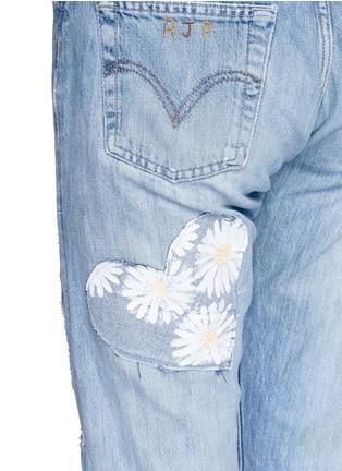 - RIALTO JEAN PROJECT - 心形拼贴雏菊图案BOYFRIEND款牛仔裤
