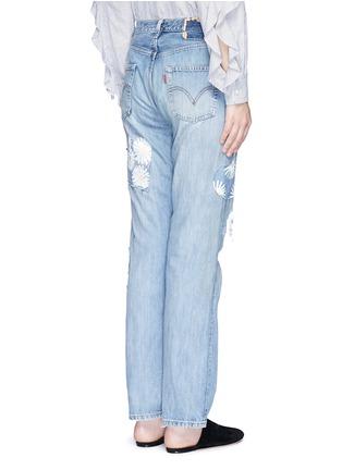 背面 - 点击放大 - RIALTO JEAN PROJECT - 心形拼贴雏菊图案BOYFRIEND款牛仔裤