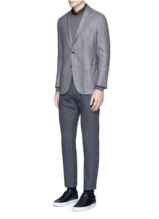 模特儿示范图 - 点击放大 - TOMORROWLAND - 单色纯棉府绸衬衫