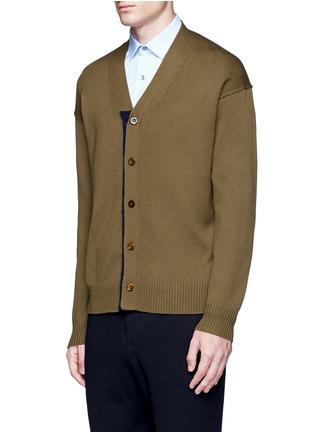正面 -点击放大 - TOMORROWLAND - 拼色混羊毛针织外套