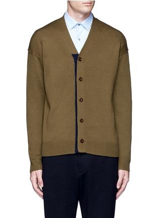 首图 - 点击放大 - TOMORROWLAND - 拼色混羊毛针织外套