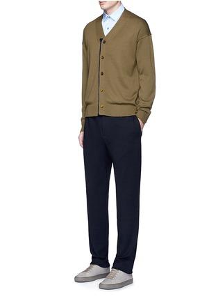 模特儿示范图 - 点击放大 - TOMORROWLAND - 拼色混羊毛针织外套