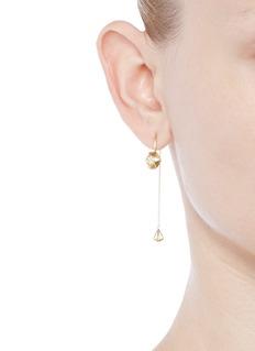 LAMA HOURANI JEWELRY 钻石镶嵌18k金链缀耳环