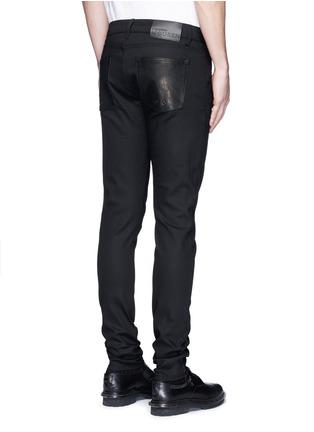 背面 - 点击放大 - Alexander McQueen - 拉链皮革装饰棉质长裤