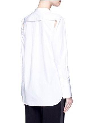 背面 - 点击放大 - PORTS 1961 - 可拆卸衣袖纯棉衬衫