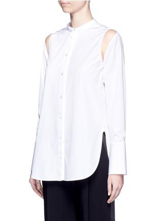 正面 -点击放大 - PORTS 1961 - 可拆卸衣袖纯棉衬衫